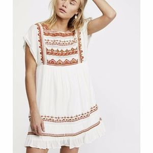 NEW Free People Sunrise Wanderer Minidress XS